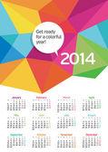 A colorful calendar — Stock Vector