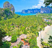 View point on Railay bay in Thailand — Stock Photo
