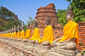 Buddha old in old temple Old town — Stock Photo