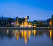 Wat Jong Klang in Maehongson,province North of Thailand — Stock Photo