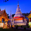Phra Singh temple twilight time Viharn chiang mai thailand — Stock Photo #27326239