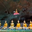 Old Buddha in a cave thailand — ストック写真