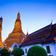 Old Temple Wat Arun in bangkok thailand — Stock Photo