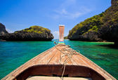 Ship Nose Front View poda Island thailand — Stock Photo
