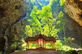 Cave and pavilion Prachuap Khiri Khan Province asia thailand — Stock Photo