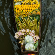 Damnoen Saduak Floating Market near Bangkok in Thailand — Stock Photo