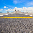 Runway at takeoff on battleship and Runway Aircraft Carrier — Stock Photo #30239831