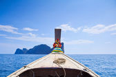 Ship Nose Front View Phi Phi Island thailand — Stock Photo