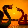 Stock Photo: Sunset and dragon Serpent