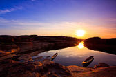 Beautiful Sunrise Ship — Stock Photo
