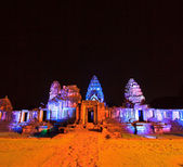 старый город огней в парке ночью — Стоковое фото