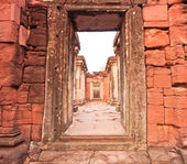 Old town Phimai Historical Park — Stock Photo