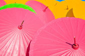 Asian umbrella's — Stock Photo