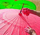 Asijské deštník — Stock fotografie