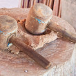 Wooden mallet — Stock Photo