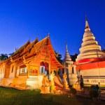 Temple twilight time — Stock Photo