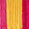 Raw silk thread — Stock Photo