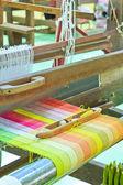 Seda tecida de máquina — Fotografia Stock