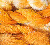 Raw silk tråd — Stockfoto