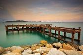 Deniz on sunset — Stok fotoğraf