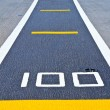 Stock Photo: Runway at takeoff