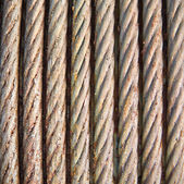 Steel wire rope cable — Stock fotografie