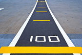Runway at takeoff — Stock Photo