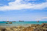 Faro nel mare — Foto Stock