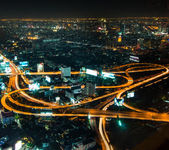 Bangkok traffic at twilight period — Stock Photo