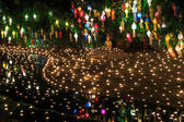 Loy Krathong festival in Chian — Stock fotografie