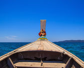 Tail boat at sea — Stock Photo