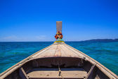 Tail boat at sea — Stock Photo