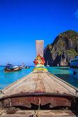 Staart boot op zee — Stockfoto