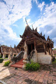 Old wooden church of Wat Tonkain — Stock Photo