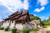 Wooden church of Wat Lok Molee Chiangmai — Stock Photo