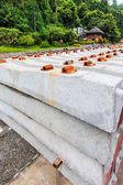 A concrete sleeper — Stock Photo