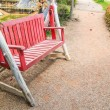 Red bench — Stock Photo