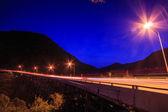 Tramonto crepuscolo sopra strada — Foto Stock