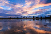 Silhouettes landscape — Stock fotografie