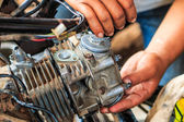 Motorcycle mechanic — Stock Photo