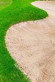 Piasek bunkier na polu golfowym — Zdjęcie stockowe