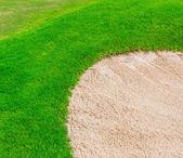 Golf sahasında kum BUNKERİ — Stok fotoğraf
