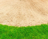 Sand bunker on the golf course — Stock Photo