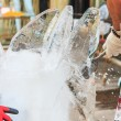 Stock Photo: Ice carving