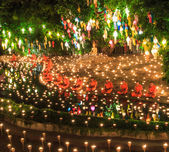 Loy Krathong festival in Chiang Mai — Stock Photo