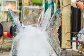 Ice carving — Stock Photo