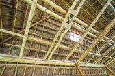 Roof from bamboo and straw — Stock Photo