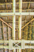 Roof from bamboo and straw — Photo