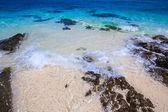 Plajda kayalar — Stok fotoğraf
