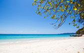 Praia e tropical mar de areia — Fotografia Stock